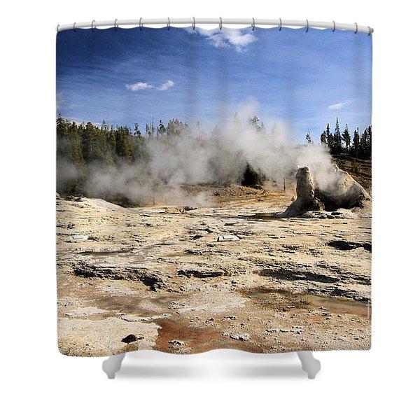 Giant Geyser Group Shower Curtain