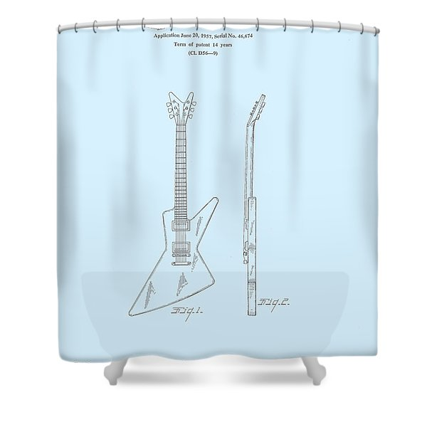 Gibson Explorer  Patent 1958 Shower Curtain