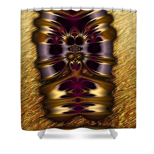 Gilded Fractal 11  Shower Curtain