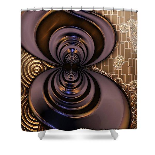 Gilded Fractal 2 Shower Curtain