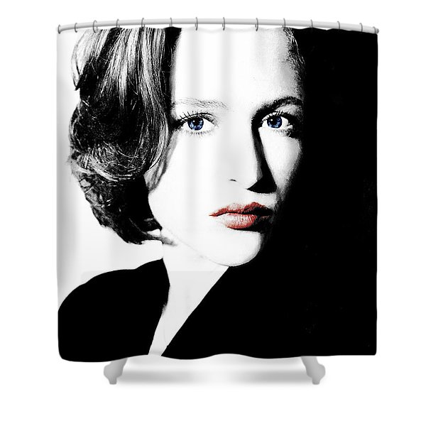 Gillian Anderson Shower Curtain