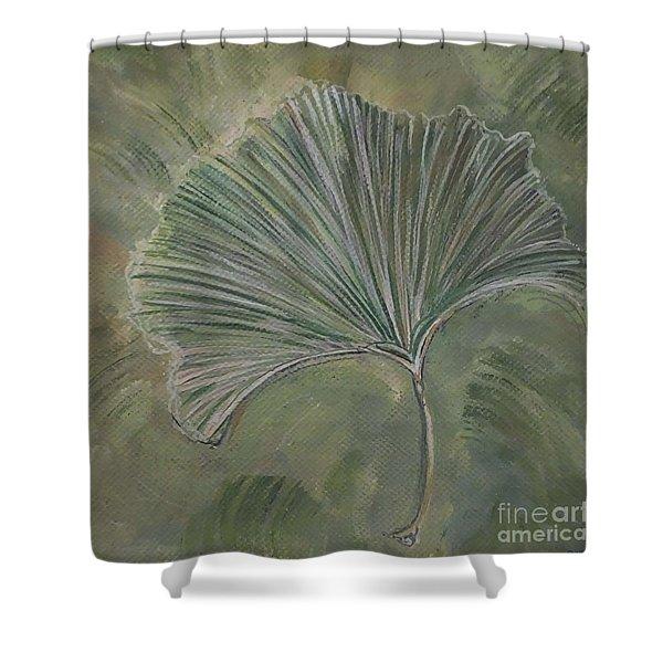 Ginko Leaf Shower Curtain