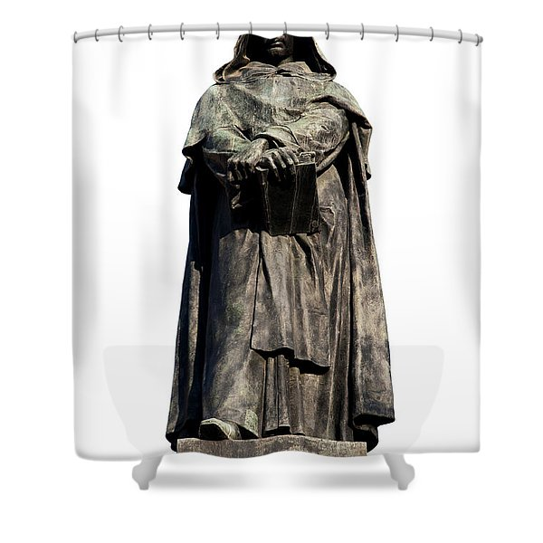 Shower Curtain featuring the photograph Giordano Bruno by Fabrizio Troiani