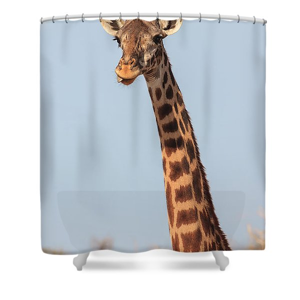Giraffe Tongue Shower Curtain