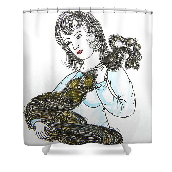 Girl And Tow Shower Curtain