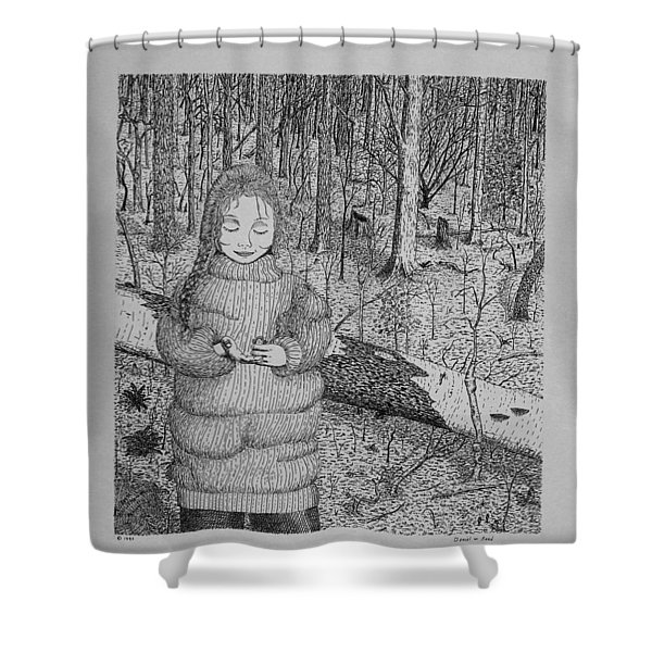 Girl In The Forest Shower Curtain
