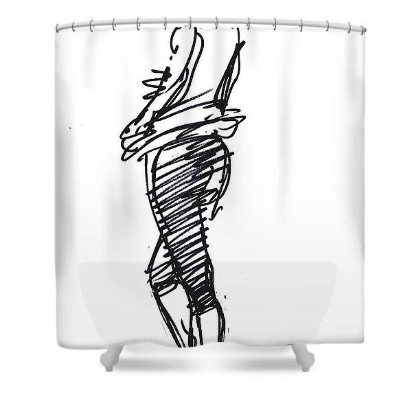 Girl Standing Shower Curtain