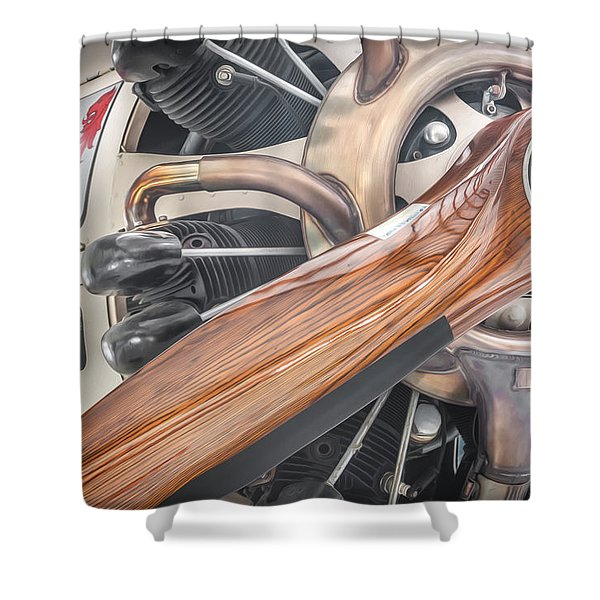 Give Props Vintage Aircraft Shower Curtain
