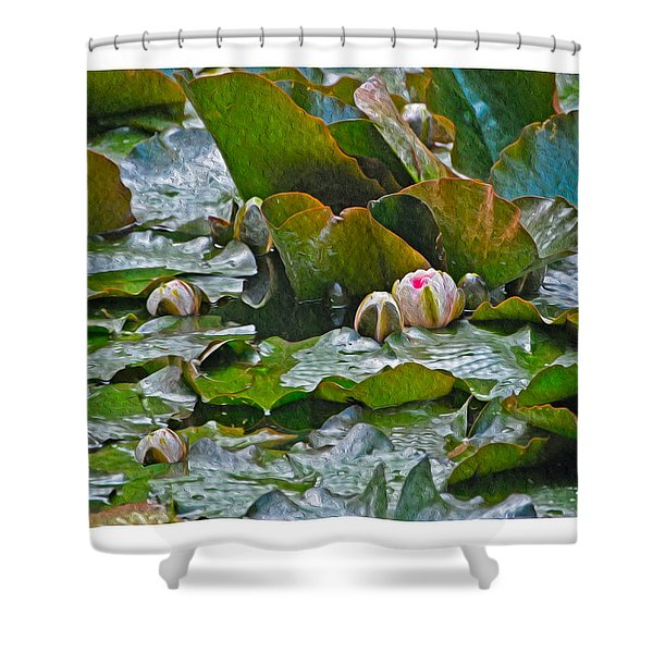 Giverny Early Lilies Shower Curtain