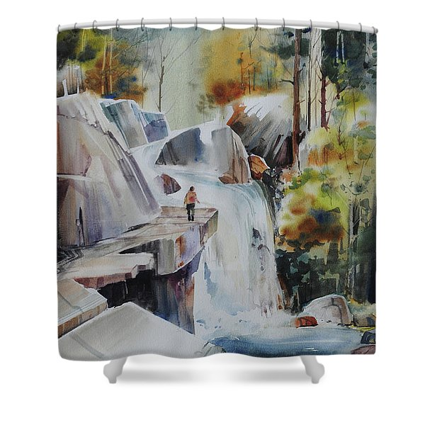 Glacial Quarries Shower Curtain