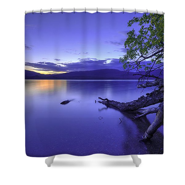 Glacier Blue Shower Curtain