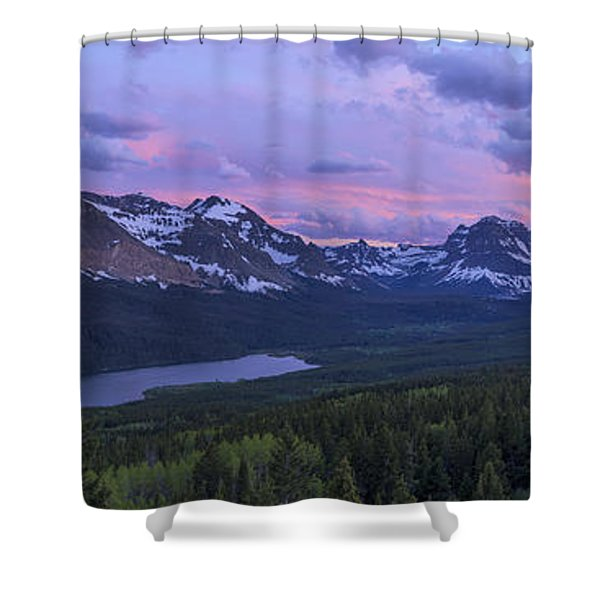 Glacier Glow Shower Curtain