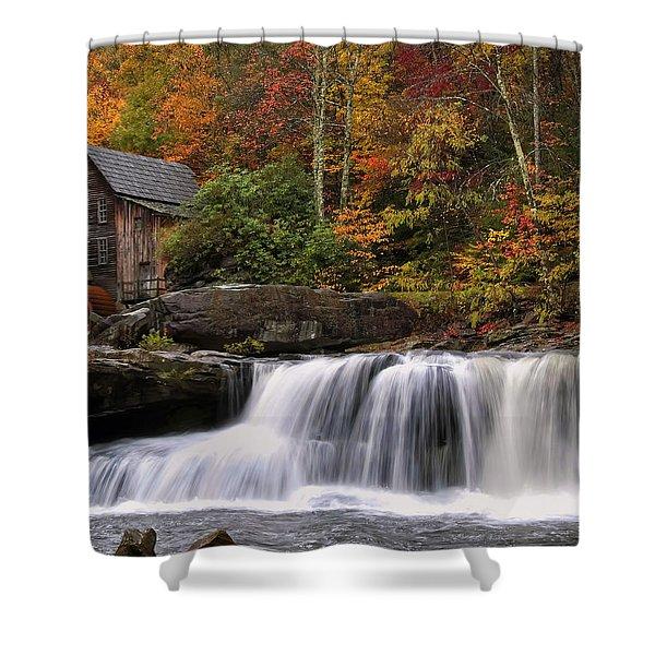 Glade Creek Grist Mill - Photo Shower Curtain