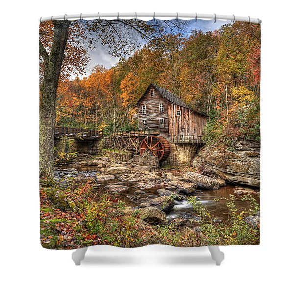 Glade Creek Gristmill Shower Curtain