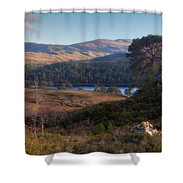 Glen Affric Panorama II Shower Curtain