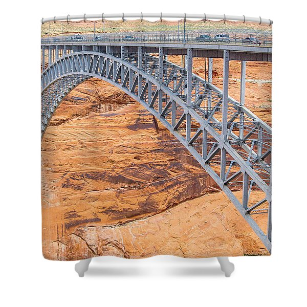 Glen Canyon Dam Bridge Shower Curtain
