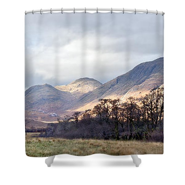 Glen Gour Panorama Dry Brushed Shower Curtain