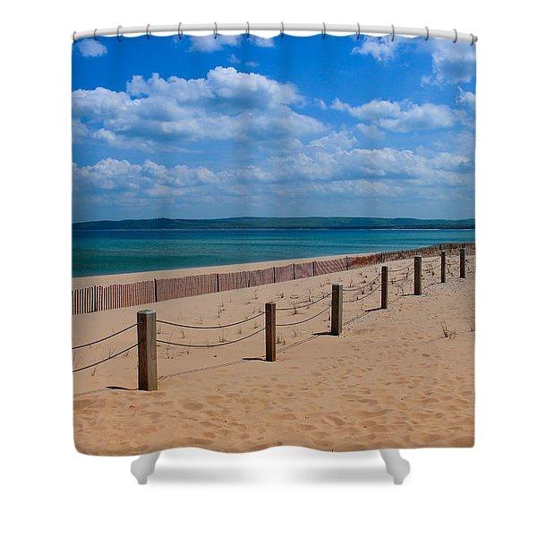 Glen Haven Lines Shower Curtain