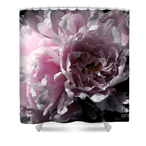 Glowing Pink Peony Shower Curtain