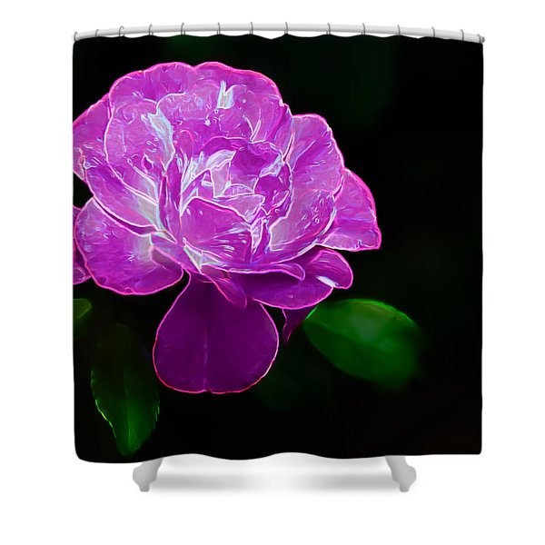 Glowing Rose II Shower Curtain