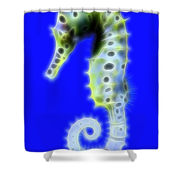 Glowing Seahorse Shower Curtain