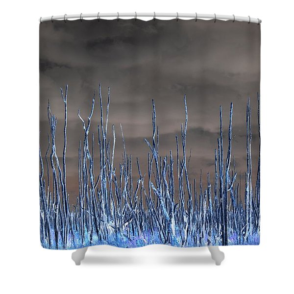 Glowing Trees 1 Shower Curtain