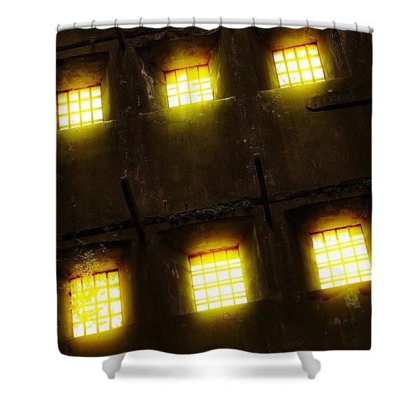 Glowing Windows Shower Curtain
