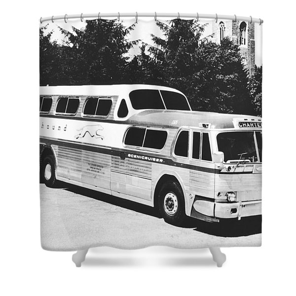 Gm's Latest Bus Line Shower Curtain