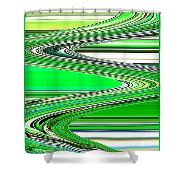 Go with the Flow Shower Curtain by Carol Groenen