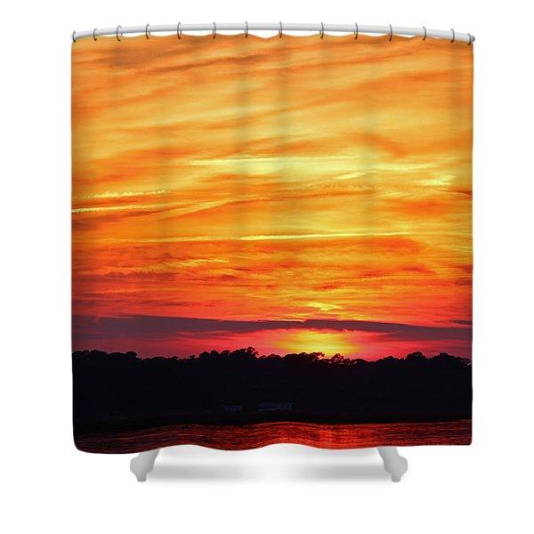 God Paints The Sky Shower Curtain