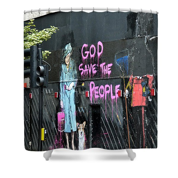 God Save The People Shower Curtain