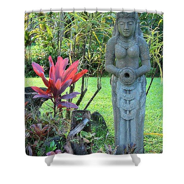 Goddess Bhudevi Mother Earth Shower Curtain