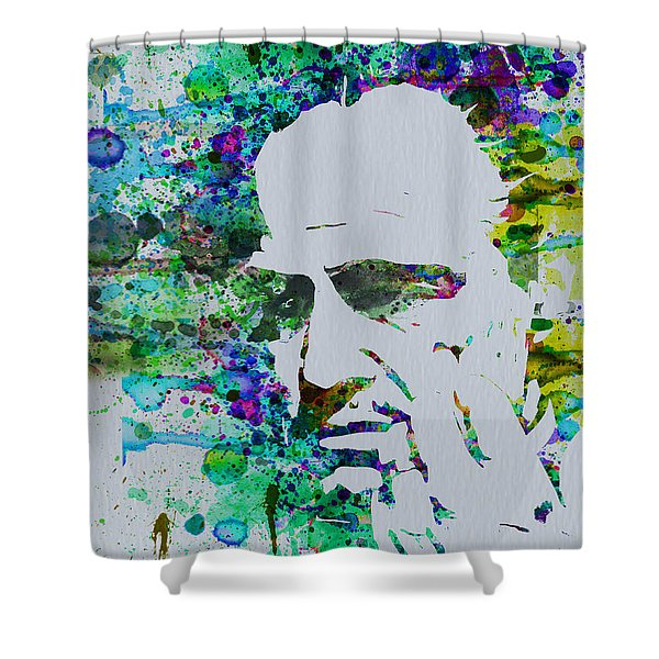 Godfather Watercolor Shower Curtain
