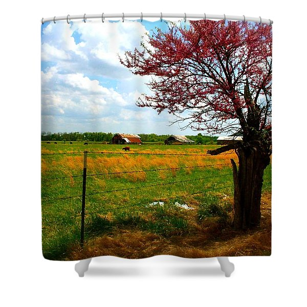 Gods Country   Commerce Miami Oklahoma Shower Curtain