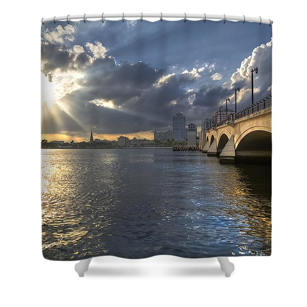 God's Light Over West Palm Beach Shower Curtain