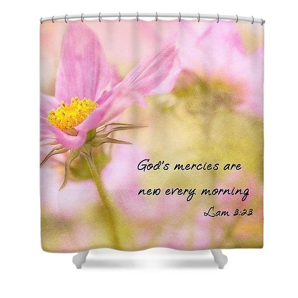 Shower Curtain featuring the photograph God's Mercies by Mary Jo Allen
