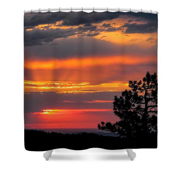God's Spotlight Over Keystone Shower Curtain