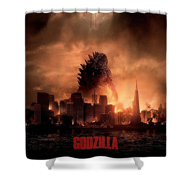 Godzilla 2014 Shower Curtain