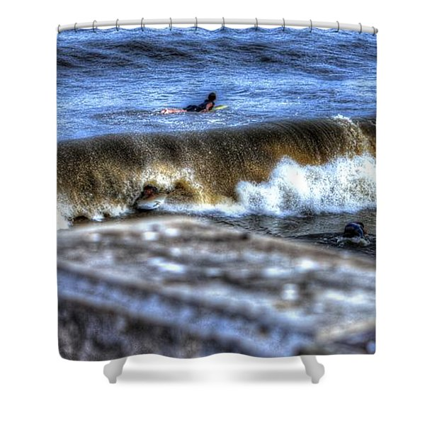 Going Going Gone Shower Curtain