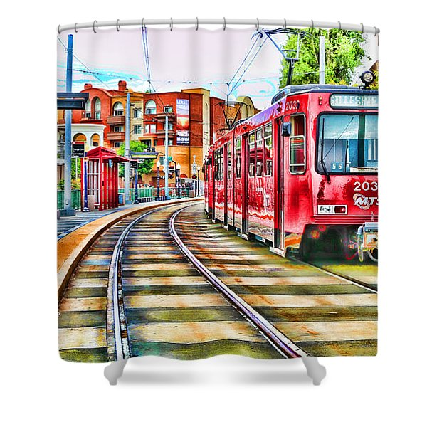 Going To Gillespie Field By Diana Sainz Shower Curtain