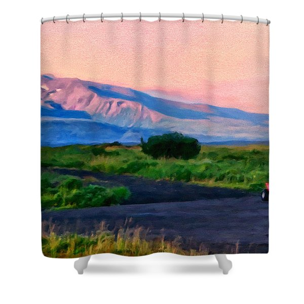 Going To School Cold Bay Style Shower Curtain