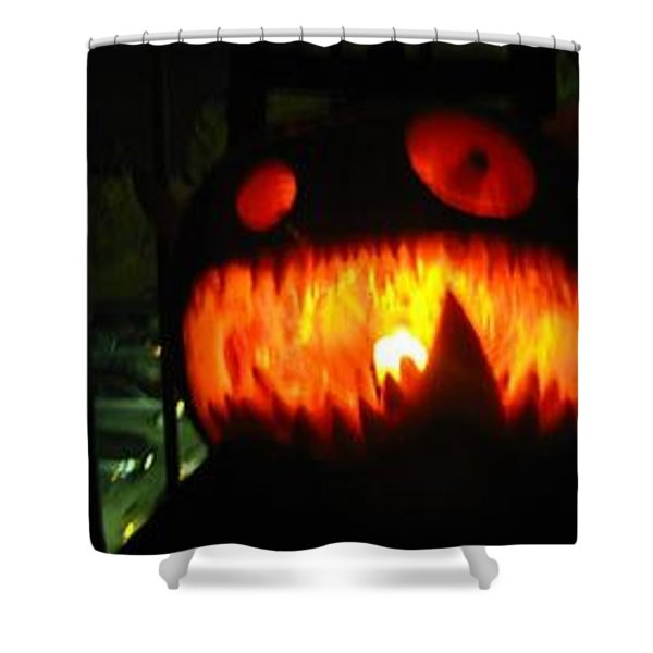Going Up Pumpkin Shower Curtain