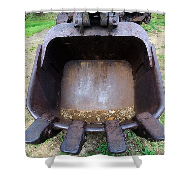 Gold Mining Steam Shovel Bucket Close-up Shower Curtain