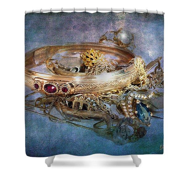 Shower Curtain featuring the photograph Gold Treasure by Gunter Nezhoda