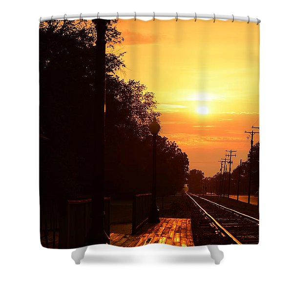 Golden Age Of Rails Shower Curtain