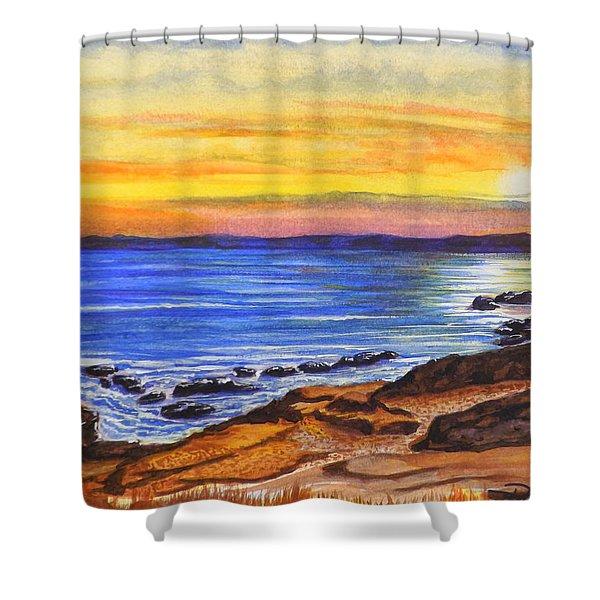 Golden Cove Shower Curtain