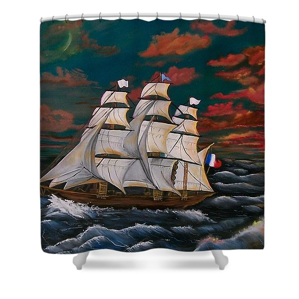 Golden Era Of Sail Shower Curtain