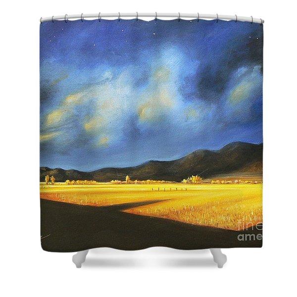 Golden Fields Shower Curtain