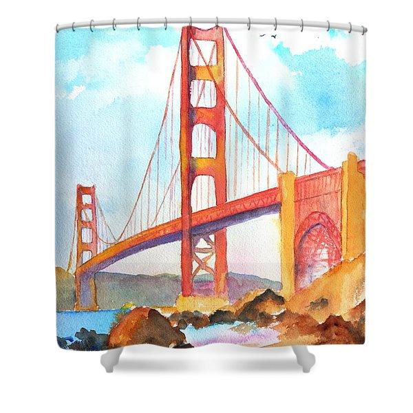 Golden Gate Bridge 3 Shower Curtain