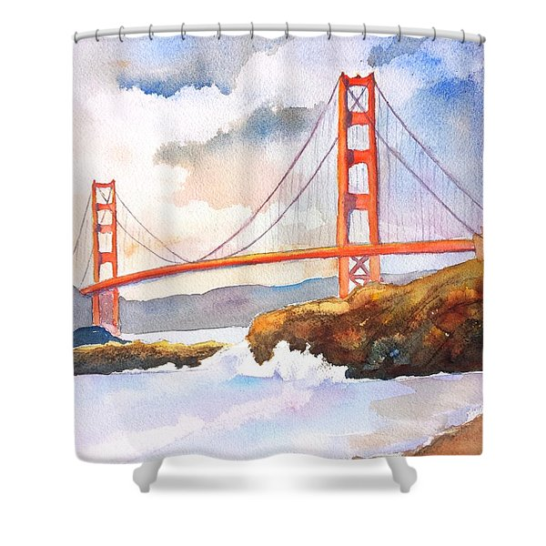 Golden Gate Bridge 4 Shower Curtain